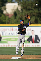 Tyler Ladendorf of the Stockton Ports during game against the Rancho Cucamonga Quakes at The Epicenter in Rancho Cucamonga,California on August 15, 2010. Photo by Larry Goren/Four Seam Images