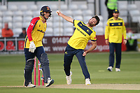 Ian Holland in bowling action for Hampshire during Essex Eagles vs Hampshire Hawks, Vitality Blast T20 Cricket at The Cloudfm County Ground on 11th June 2021