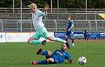 11.10.2020, Marschwegstadion, Oldenburg, GER, RL Nord,, Gruppe Süd VfB Oldenburg vs SV Werder Bremen U23,  DFL regulations prohibit any use of photographs as image sequences and/or quasi-video, im Bild<br /> Julian RIECKMANN (SV Werder Bremen U23 #33 ) Nico MATERN (VfB Oldenburg #8 )<br /> <br /> Foto © nordphoto / Rojahn