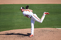 Baltimore Orioles pitcher Josh Rogers (75) during a Major League Spring Training game against the Pittsburgh Pirates on February 28, 2021 at Ed Smith Stadium in Sarasota, Florida.  (Mike Janes/Four Seam Images)