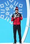 Mark Arendz, PyeongChang 2018 - Para Nordic Skiing // Ski paranordique.<br /> Mark Arendz collects his bronze medal // Mark Arendz remporte sa médaille de bronze. 14/03/2018.