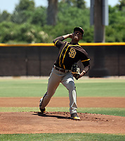 Brayan Medina - San Diego Padres 2021 extended spring training (Bill Mitchell)