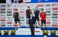 (L to R - Silver; Gold; Bronze), ACERENZA Domenico; PALTRINIERI Gregorio; OLIVIER Marc-Antoine FRA, GIOVANNONI Ivan<br /> 1500 Freestyle Men<br /> Roma 13/08/2020 Foro Italico <br /> FIN 57 LVII Trofeo Sette Colli - Campionati Assoluti 2020 Internazionali d'Italia<br /> Photo Giorgio Scala/DBM/Insidefoto