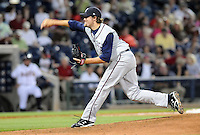 9 April 2008: RHP Brooks Brown of the Mobile BayBears, Class AA affiliate of the Arizona Diamondbacks, in the season opener against the Mississippi Braves at Trustmark Park in Pearl, Miss. Photo by:  Tom Priddy/Four Seam Images