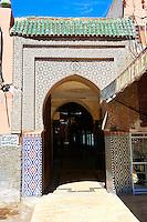 Berber Arabesque entrance to the Kasbah, Marrakesh, Morroco