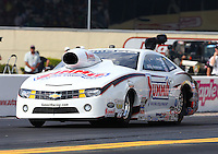 Oct 4, 2013; Mohnton, PA, USA; NHRA pro stock driver Greg Anderson during qualifying for the Auto Plus Nationals at Maple Grove Raceway. Mandatory Credit: Mark J. Rebilas-