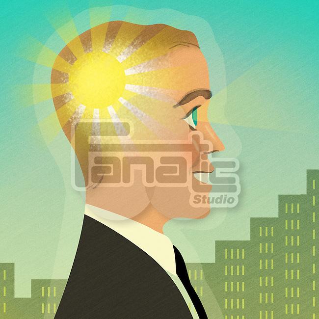 Businessman with brilliant ideas