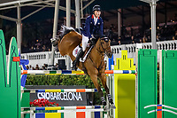 GBR-Harry Charles rides Romeo 88 during the Longines FEI Jumping Nations Cup™ Final - Challenge Cup. 2021 ESP-Longines FEI Jumping Nations Cup Final. Real Club de Polo, Barcelona. Spain. Saturday 2 October 2021. Copyright Photo: Libby Law Photography