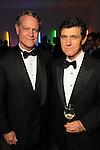 Bill Stewart and Josef Helfenstein at the Men of Menil reception at Richmond Hall Thursday March 08,2012. (Dave Rossman Photo)