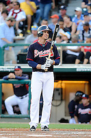 Designated hitter Kelly Johnson (24) of the Atlanta Braves in a Spring Training game against the New York Yankees on Wednesday, March 18, 2015, at Champion Stadium at the ESPN Wide World of Sports Complex in Lake Buena Vista, Florida. The Yankees won, 12-5. (Tom Priddy/Four Seam Images)