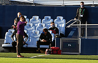 KANSAS CITY, KS - NOVEMBER 22: San Jose Earthquakes coach Matias Almeyda instructs his players from the sideline before a game between San Jose Earthquakes and Sporting Kansas City at Children's Mercy Park on November 22, 2020 in Kansas City, Kansas.