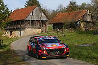 25th April 2021; Zagreb, Croatia; WRC Rally of Croatia, Final stages; Craig Breen - Hyundai I20 WRC