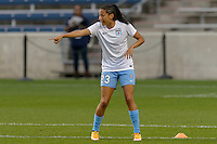 Chicago, IL - Wednesday Sept. 07, 2016: Christen Press prior to a regular season National Women's Soccer League (NWSL) match between the Chicago Red Stars and FC Kansas City at Toyota Park.