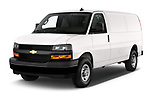2020 Chevrolet Express-Cargo WT 4 Door Cargo Van Angular Front automotive stock photos of front three quarter view