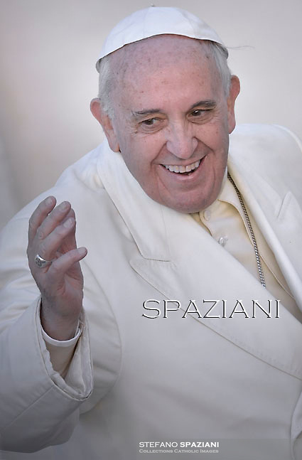 Pope Francis during his weekly general audience in St. Peter square at the Vatican, Wednesday. December 10, 2014
