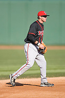 Shortstop Tyler Pastornicky #3 of the Lansing Lugnuts on defense versus the South Bend Silver Hawks at Coveleski Stadium April 15, 2009 in South Bend, Indiana. (Photo by Brian Westerholt / Four Seam Images)