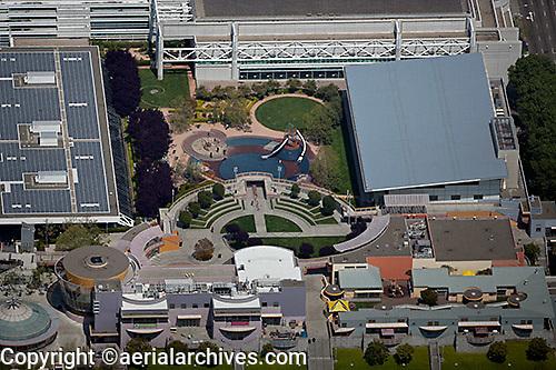 aerial photograph of the Zeum Children's Museum, Moscone Center, San Francisco, California
