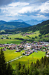 Austria, Tyrol, Westendorf (Tyrol): Hiking Village at Brixen Valley with parish church St Nicolas | Oesterreich, Tirol, Westendorf (Tirol): Wanderdorf im Brixental mit Pfarrkirche St. Nikolaus