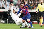 Real Madrid's Carlos Henrique Casemiro (l) and FC Barcelona's Leo Messi during La Liga match. March 1,2020. (ALTERPHOTOS/Acero)