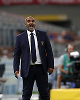 Calcio, Serie A: Inter Milano - Lecce, Giuseppe Meazza stadium, September 26 agosto 2019.<br /> Lecce's coach Fabio Liverani speaks to his players during the Italian Serie A football match between Inter and Lecce at Giuseppe Meazza (San Siro) stadium, September August 26,, 2019.<br /> UPDATE IMAGES PRESS/Isabella Bonotto