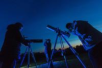 Royaume-Uni, îles Anglo-Normandes, île de Sark (Sercq) / La pureté de l'atmosphère et l'absence de pollution lumineuse attire les astronomes // United Kingdom, Channel Islands, Sark Island (Sercq)