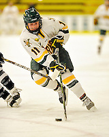 11 February 2011: University of Vermont Catamount forward Emily Walsh, a Sophomore from Suffield, CT, in action against the University of New Hampshire Wildcats at Gutterson Fieldhouse in Burlington, Vermont. The Lady Catamounts defeated the visiting Lady Wildcats 4-2 in Hockey East play. Mandatory Credit: Ed Wolfstein Photo