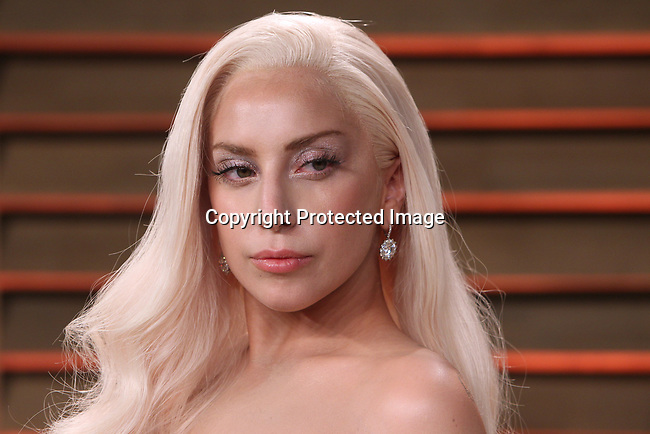 March  2, 2014, West Hollywood, Ca.   ---  Entertainer Lady Gaga  arrives at the 2014 Vanity Fair post Oscar party in West Hollywood,Ca.   ---   Christopher Farina
