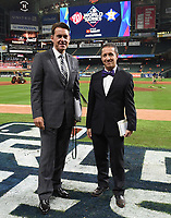 HOUSTON - OCTOBER 22: Tom Verducci and Ken Rosenthal at World Series Game 1: Washington Nationals at Houston Astros on Fox Sports at Minute Maid Park on October 22, 2019 in Houston, Texas. (Photo by Frank Micelotta/Fox Sports/PictureGroup)