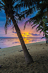 Sunset on the Coral Coast in the Fiji Islands.
