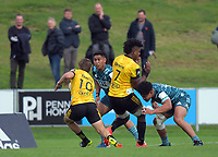 Action from the 2021 Bunnings Super Rugby Aotearoa Under-20 rugby match between the Hurricanes and Highlanders at Owen Delaney Park in Taupo, New Zealand on Tuesday, 14 April 2021. Photo: Dave Lintott / lintottphoto.co.nz