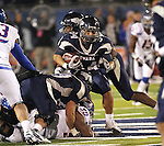Action from the NCAA football game between Boise State and Nevada in Reno, Nev. on Friday, Nov. 26, 2010..Photo by Cathleen Allison.