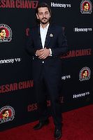 """HOLLYWOOD, LOS ANGELES, CA, USA - MARCH 20: Diego Luna at the Los Angeles Premiere Of Pantelion Films And Participant Media's """"Cesar Chavez"""" held at TCL Chinese Theatre on March 20, 2014 in Hollywood, Los Angeles, California, United States. (Photo by David Acosta/Celebrity Monitor)"""