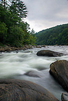"""Rapids on the Youghiogheny River, Pennsylvania. Nicknamed the """"Yough"""", this river is a tributary of the Monongahela River which drains a portion of the west side of the Allegheny Mountains. It's a popular river for whitewater kayaking and rafting."""