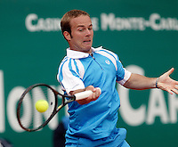 17-4-06, Monaco, Tennis,Master Series, Olivier Rochus in action against Monfils