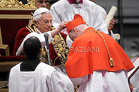 cardinal Edwin Frederick O'Brien, Pope Benedict XVI leads the Consistory where he will appoint 22 new cardinals on February 18, 2012 at St Peter's basilica at the Vatican.