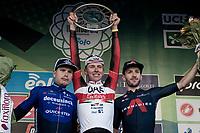 Tadej Pogacar (SVN/UAE-Emirates) wins the 115th Il Lombardia 2021 (1.UWT) ahead of Fausto Masnada (ITA/Deceuninck - Quick Step) & Adam Yates (GBR/Ineos Grenadiers)<br /> <br /> One day race from Como to Bergamo (ITA/239km)<br /> <br /> ©kramon