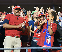 FRISCO, TX - MARCH 11: Fans supporting the USWNT during a game between Japan and USWNT at Toyota Stadium on March 11, 2020 in Frisco, Texas.