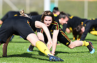 20190226 - LARNACA , CYPRUS :  Belgian Heleen Jaques pictured during a Matchday -1 training from The Belgian Red Flames prior to their game against the women team of Slovakia , on Tuesday 26 February 2019 at the Alpha Sports Grounds in Larnaca , Cyprus . This will be the first game in group C for Belgium during the Cyprus Womens Cup 2019 , a prestigious women soccer tournament as a preparation on the European Championship 2021 qualification duels. PHOTO SPORTPIX.BE   DAVID CATRY