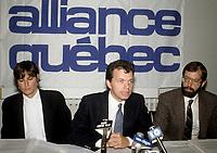 FILE PHOTO -  ALLIANCE QUEBEC Leader Royal Orr<br /> circa 1989<br /> <br /> <br /> PHOTO :   Agence quebec Presse