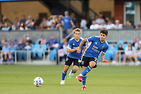 SAN JOSE, CAL - JULY 24: Javier Lopez #9 of the San Jose Earthquakes during a game between Houston Dynamo and San Jose Earthquakes at PayPal Park on July 24, 2021 in San Jose, Cal.
