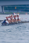 US Women's Eight, Cologne, Germany, FISA 1998 World Rowing Championships, Crew at the start: from bow (r to l): Katie Maloney, Wendy Wilbur, Torrey Folk, Amy Fuller, Jen Dore, Sarah Jones, Sally Scovel, Lianne Nelson, Raj Shah (cox), 2nd place: 6:15.81. (Romanian women beat them by 1.19 seconds to take gold)