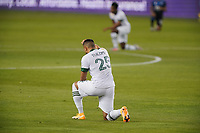 SAN JOSE, CA - SEPTEMBER 19: Bill Tuiloma #25 of the Portland Timbers before a game between Portland Timbers and San Jose Earthquakes at Earthquakes Stadium on September 19, 2020 in San Jose, California.