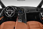 Stock photo of straight dashboard view of a 2018 Chevrolet Corvette Stingray Coupe 2LT 3 Door Targa