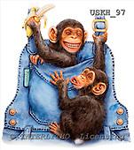 Kayomi, CUTE ANIMALS, paintings, MonkeysOverall_M, USKH97,#AC# illustrations, pinturas ,everyday