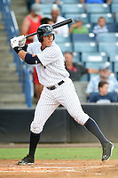 Tampa Yankees outfielder Aaron Judge (59) at bat during a game against the Dunedin Blue Jays on June 28, 2014 at George M. Steinbrenner Field in Tampa, Florida.  Tampa defeated Dunedin 5-2.  (Mike Janes/Four Seam Images)