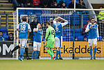 St Johnstone v Kilmarnock…02.12.17…  McDiarmid Park…  SPFL<br />Liam Craig reacts as his horror mistake gifts Killie th elad<br />Picture by Graeme Hart. <br />Copyright Perthshire Picture Agency<br />Tel: 01738 623350  Mobile: 07990 594431