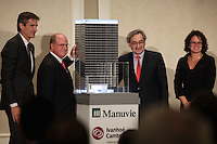 Montreal, CANADA - October 6 2014 - Donald Guloien, President & CEO of Manulife, delivers a speech to the Canadian Club of Montreal and announce the construction of Maison Manuvie, in partnership  with Ivanhoe Cambridge.<br /><br />Manulife is a leading Canada-based financial services group with principal operations in Asia, Canada and the United States. They operate as John Hancock in the U.S. <br /><br />Photo : Agence Quebec Pressse - Pierre Roussel