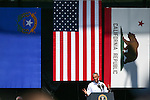 Pres. Barack Obama speaks at the 20th annual Tahoe Summit in Stateline, Nev., on Wednesday, Aug. 31, 2016. Obama was the keynote speaker at the annual event which focuses on the environmental protection of Lake Tahoe. Cathleen Allison/Las Vegas Review-Journal