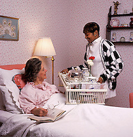 Nurse visiting a patient in his home. Home healthcare.