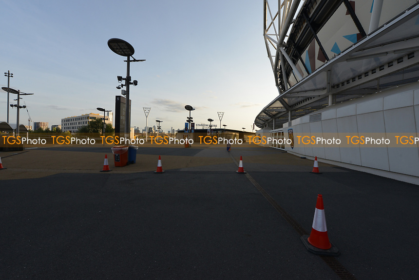 General view of the London Stadium Covid 19  during West Ham United vs Newcastle United, Premier League Football at The London Stadium on 12th September 2020